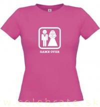 Tričko GAME OVER bledoružové dámske XS