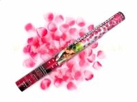 Vystreľovacie konfety 60 cm ružové lupene