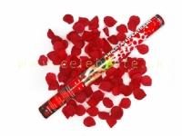 Vystreľovacie konfety 60 cm bordové lupene