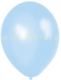 Balón perleťový bledomodrý, 10ks