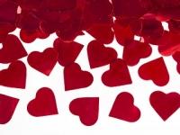Vystreľovacie konfety 60cm červené srdiečka
