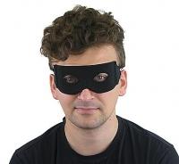 Maska čierna látková