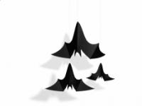 Závesná dekorácia 3 netopiere