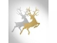 Vianočná ozdoba - zlatý sob