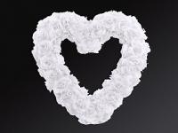 Srdce z ruží, biele
