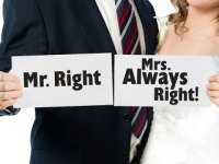 Tabuľky Mr. Right / Mrs. Always Right