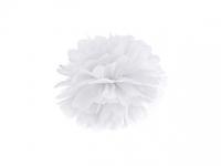 Pompom biely, 25cm