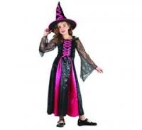Kostým Malá čarodejnica ružová