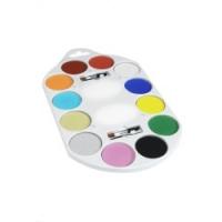 Paleta 12 vodou zmývateľných farieb