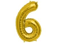 Fóliový balón č.6 zlatý