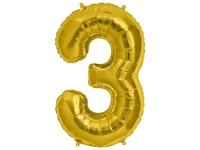 Fóliový balón č.3 zlatý