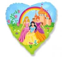 Fóliový balón Princezné srdce