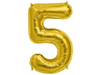 Fóliový balón č.5 zlatý