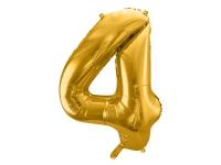 Fóliový balón č.4 zlatý