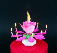 Sviečka hracia Kvet ružový