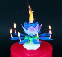 Sviečka hracia Kvet modrý