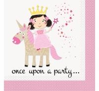 Servítky Princezná a Jednorožec