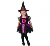 Kostým Malá čarodejnica ružová, 92-104cm