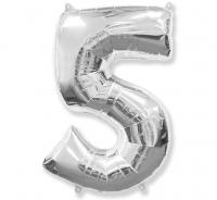 Balón č.5 strieborný