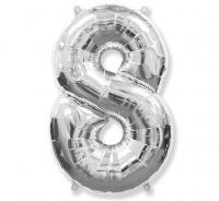 Balón č.8 strieborný
