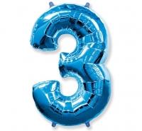 Balón č. 3 modrý