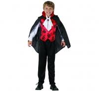Kostým Vampír s červenou vestou