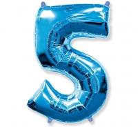 Fóliový balón č.5 modrý