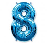 Fóliový balón č.8 modrý