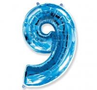 Fóliový balón č.9 modrý