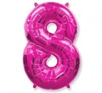 Fóliový balón č.8 ružový