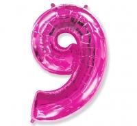 Fóliový balón č.9 ružový