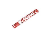Vystreľovacie konfety Červené srdiečka, 40cm