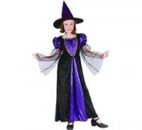 Kostým Fialová čarodejka detský
