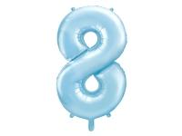 Fóliový balón č.8 bledomodrý, 85cm