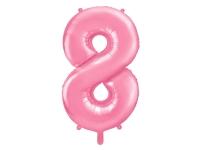 Fóliový balón č.8 bledoružový, 85cm