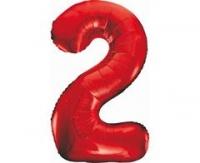 Fóliový balón č.2 červený, 85cm