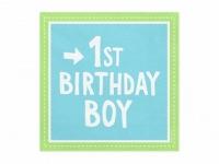 Servítky 1.narodeniny modré