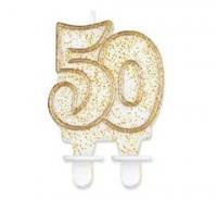 Sviečka glitrová 50