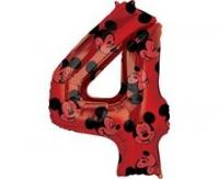 Fóliový balón Mickey č.4, červený