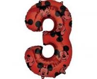Fóliový balón Mickey č.3, červený