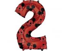 Fóliový balón Mickey č.2, červený