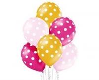 Balóny Dots, ružový mix