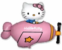 Fóliový balón Hello Kitty v lietadle, 60cm