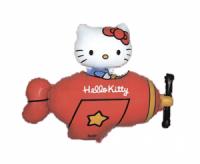 Fóliový balón Hello Kitty červené lietadlo, 60cm
