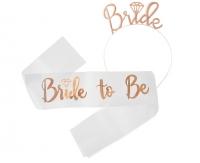 Súprava čelenka a šerpa Bride to Be
