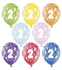 Balón č.2 s hviezdičkami, 10ks