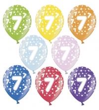 Balón č.7 s hviezdičkami,10ks