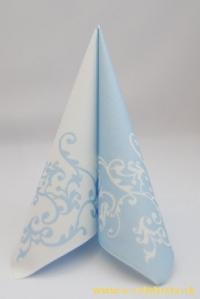 Servítky 24 bielo-modré