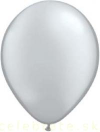 Balón perleťový strieborný,10ks