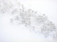 Perličky na silikóne biele